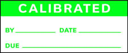 Calibration Label, ENG, Green/White, PK225