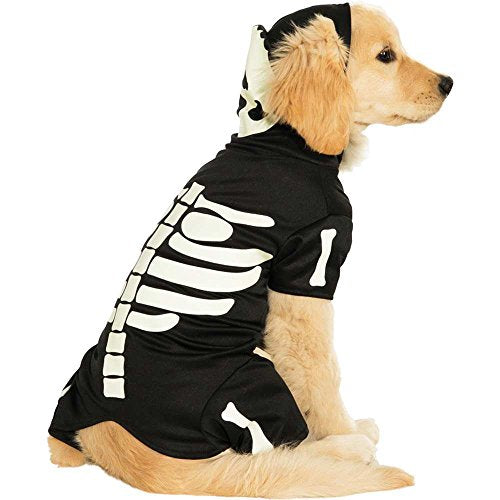 Glow in the Dark Skeleton Pet Costume - Large