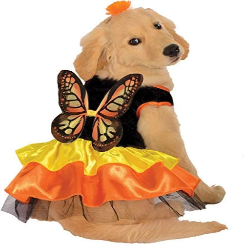 UHC Monarch Butterfly Outfit Fancy Dress Puppy Halloween Pet Dog Costume, L