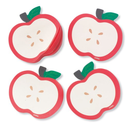 Apple Shaped Sticky Notes - 12 per pack
