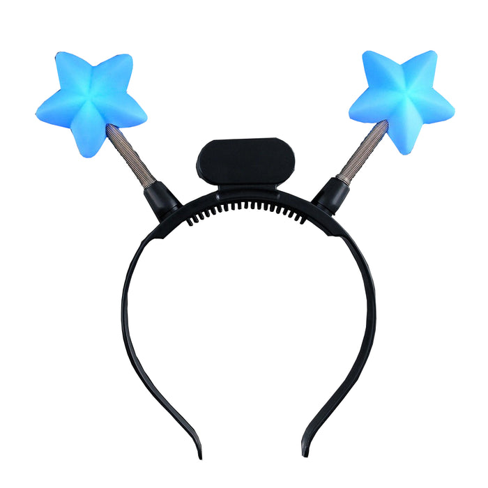 Light Up Blue Star Head Boppers