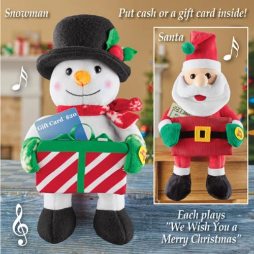 Musical Holiday Card Holder Snowman