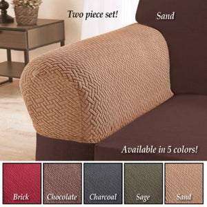 Armrest Covers for Recliners, Sofas, Chairs - Set of 2-Brick