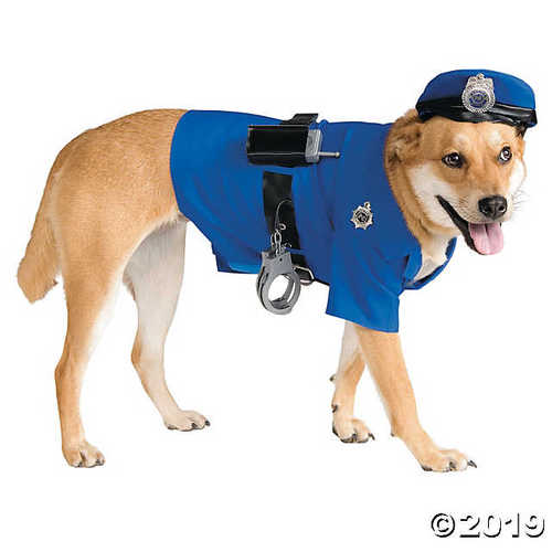 UHC Police Uniform Outfit Funny Theme Halloween Pet Dog Costume, XL