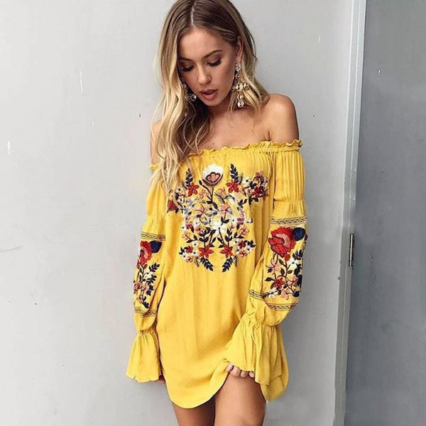Slash Boho Mini Dress