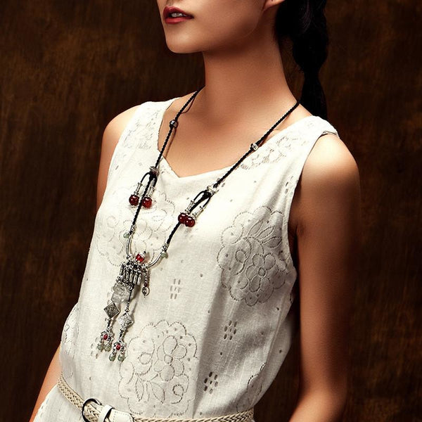 Boho Tibetan vintage necklace