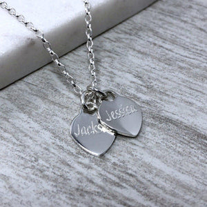 Name necklace personalised in sterling silver, 10mm