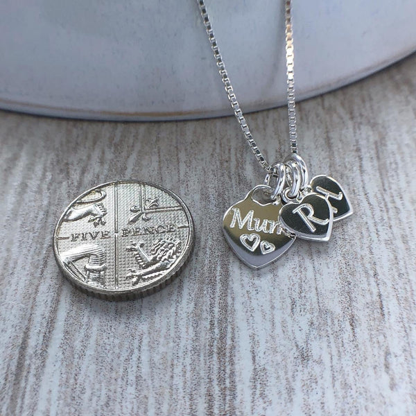 Necklace for Mum with initial charms - Tracy Anne Jewellery