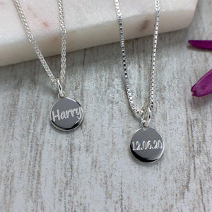 Name necklace, dainty and simple, 8mm - Tracy Anne Jewellery