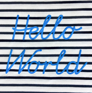 """Hello World"" Breton Top - Children's"