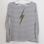 Breton Lightning Bolt Top - Ladies