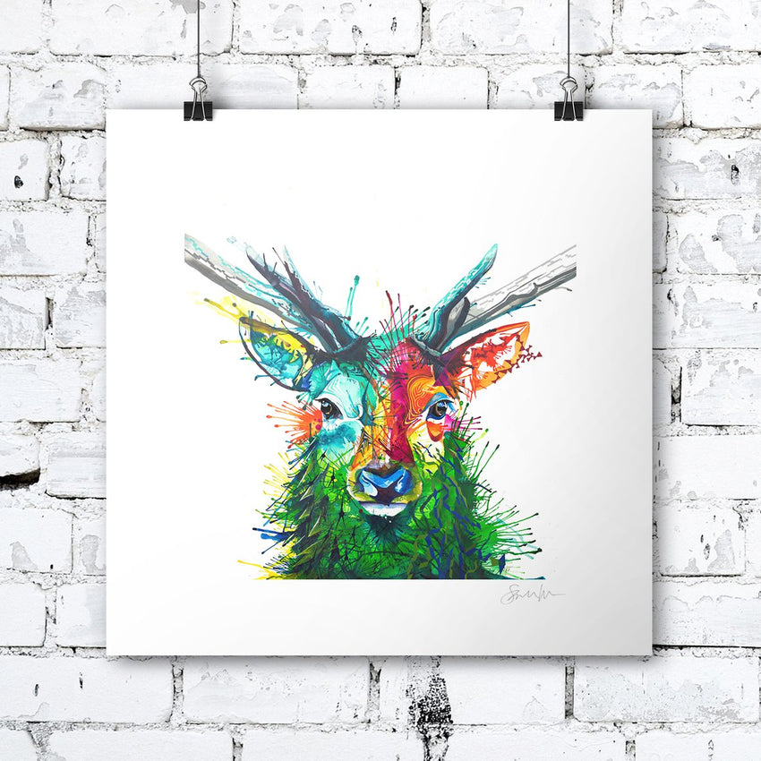 Elvis The Stag - Print