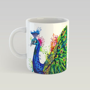 Percival Peacock - 11 oz. Ceramic Mug