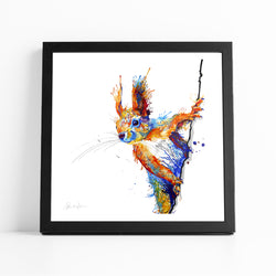Percy The Squirrel - Fine Art Print