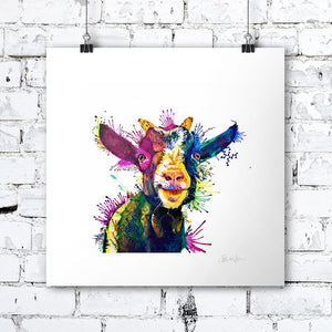 Zeus; King Of Goats - Print