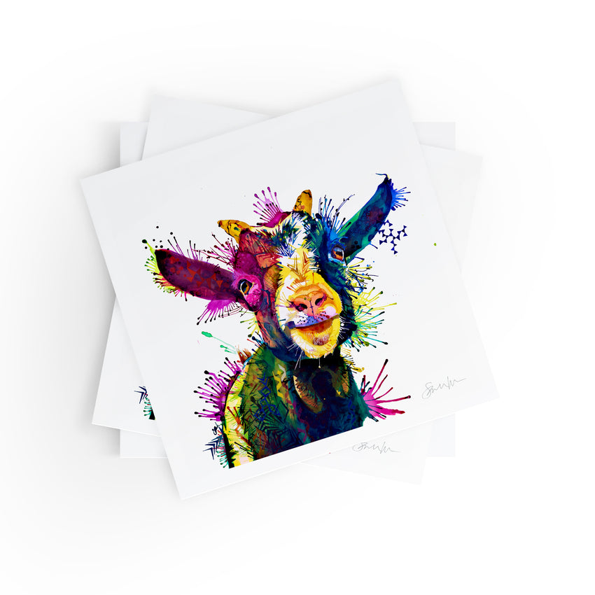 Zeus; King Of Goats - Fine Art Print