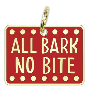 All Bark No Bite - Collar Charm Collar Charms German Shepherd Shop