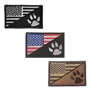 American Flag With Dog Tracker Paw Tactical Patch Harness German Shepherd Shop