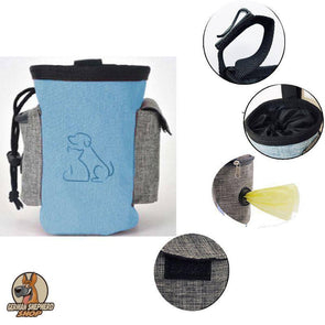 Dog Training Treat Pouch W/ Built-In Poop Bag Dispenser And Car Key Pocket