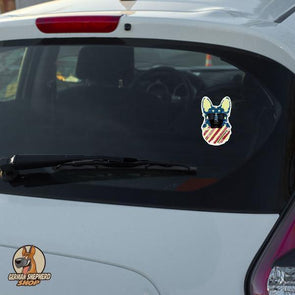 German Shepherd Cool Patriot - Sticker-German Shepherd Shop