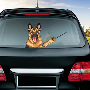 German Shepherd Rear Window Wiper Sticker Stickers German Shepherd Shop