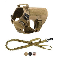 GSS - Tactical Dog Harness w/ Tactical Bungee Leash V2