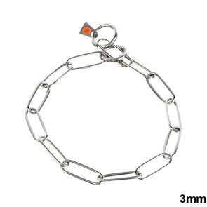 Herm Sprenger Stainless Steel Long Link Fur Saver 3mm Collar German Shepherd Shop 21in (54cm) x 3mm