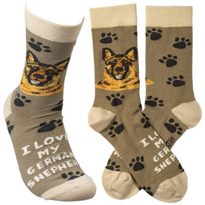 I Love My German Shepherd - Socks Socks German Shepherd Shop