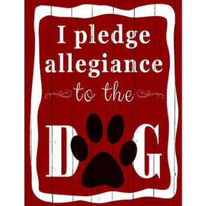 I Pledge Allegiance To The Dog Metal Parking Sign Accessories German Shepherd Shop