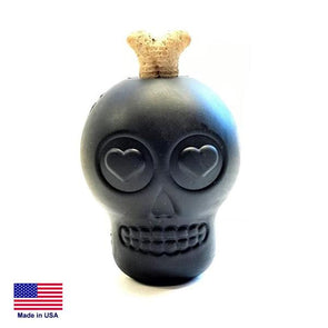 Magnum Sugar Skull Ultra - Durable Chew Toy & Treat Dispenser - Large - Black Toys German Shepherd Shop