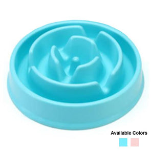 Plastic Slow Feeder Bowl For Puppies Dog Bowl German Shepherd Shop Light Blue