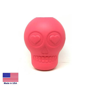 Sugar Skull Durable Rubber Chew Toy & Treat Dispenser - LARGE - PINK Toys German Shepherd Shop