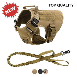 Tactical Dog Harness w/ Tactical Bungee Leash V2 Harness German Shepherd Shop