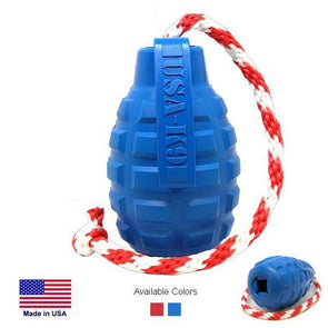 USA-K9 Grenade Durable Rubber Chew Toy, Treat Dispenser, Reward Toy, Tug Toy, And Retrieving Toy Toys German Shepherd Shop