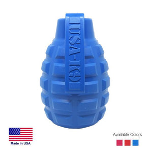 USA-K9 Grenade Durable Rubber Chew Toy & Treat Dispenser Toys German Shepherd Shop