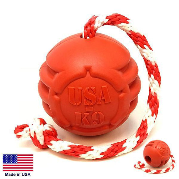 "USA-K9 Stars And Stripes Ultra-Durable Rubber Chew Toy, Reward Toy, Tug Toy, And Retrieving Toy 3"" Toys German Shepherd Shop"