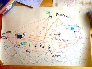 Bodil's pirate ship
