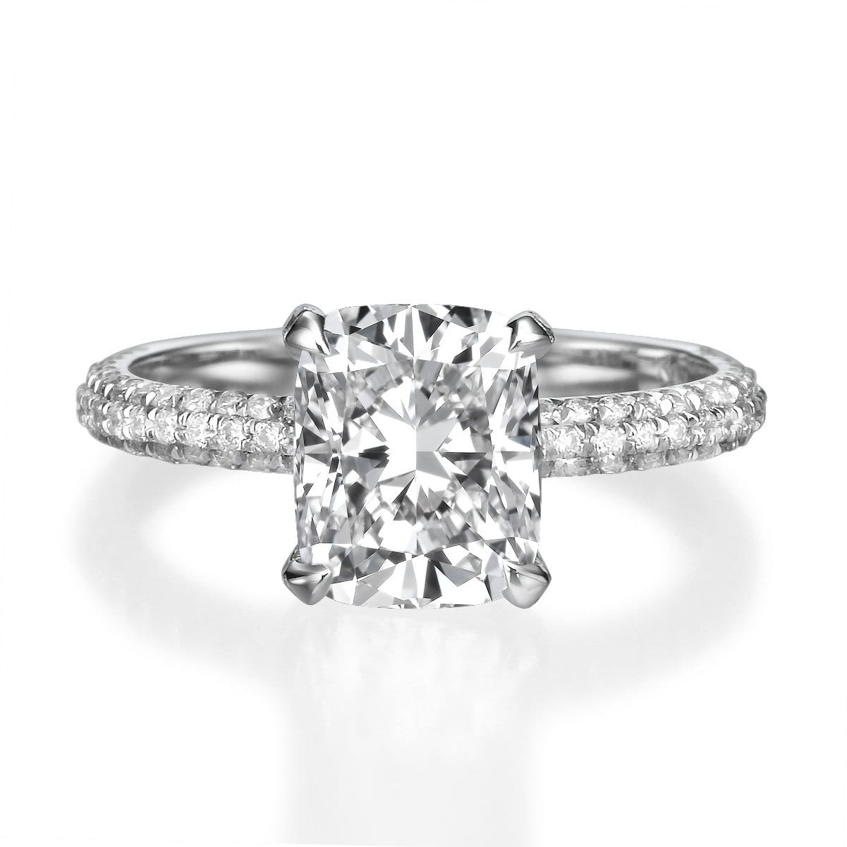 2.51 ct Cushion Cut Diamond Engagement Ring
