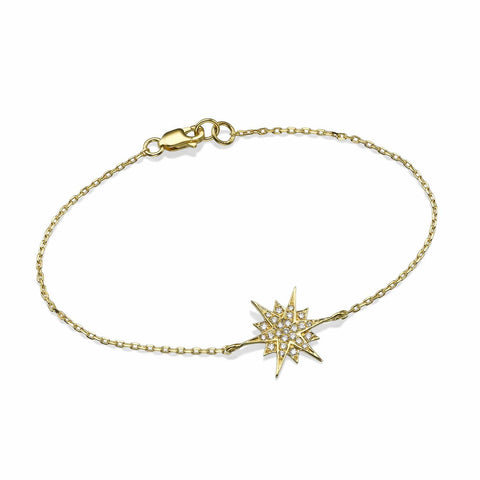 Big Size Star Diamond Bracelet in 18K Gold