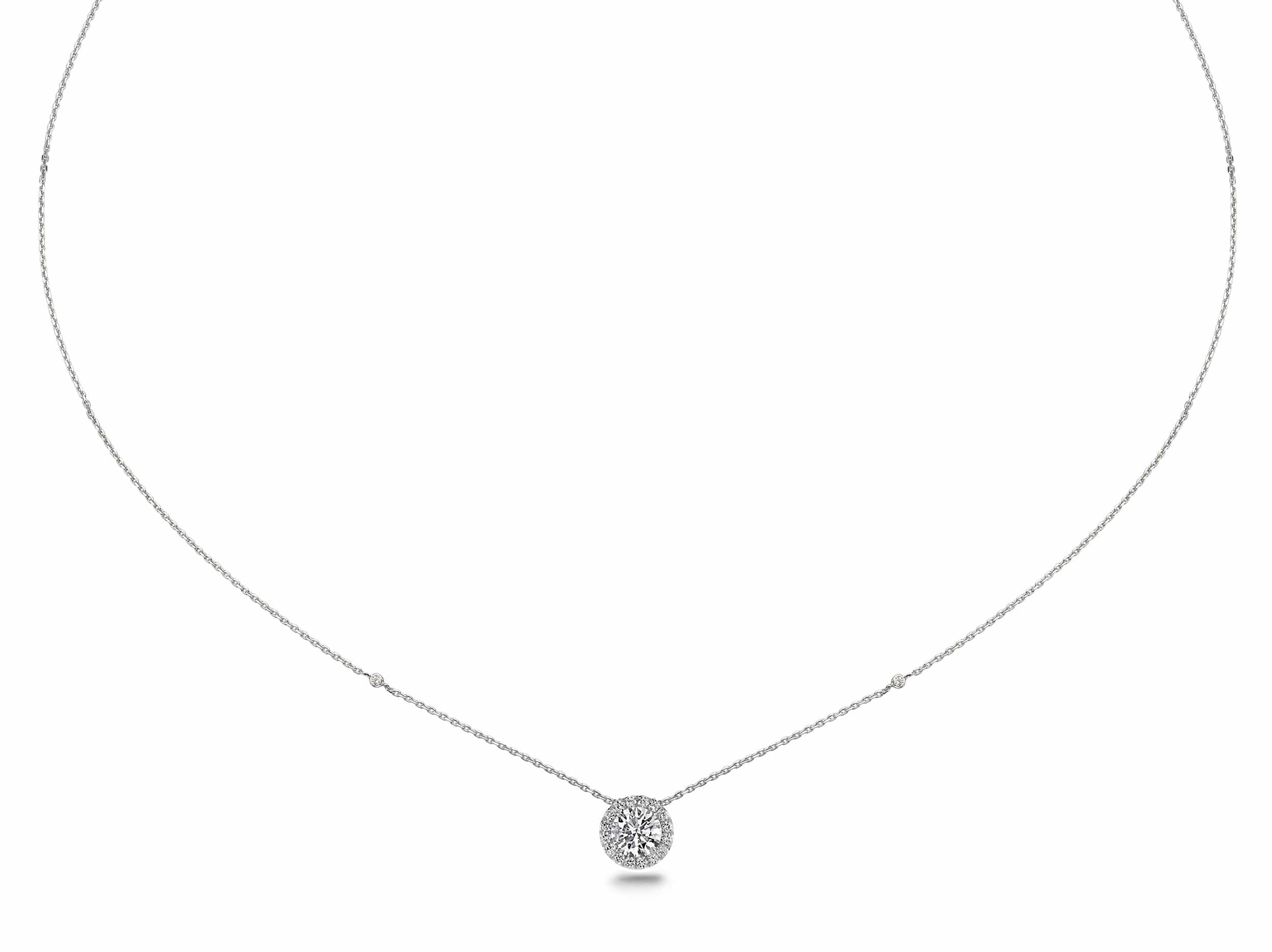 1.20 ct Round Brilliant Cut Diamond Necklace Pendant