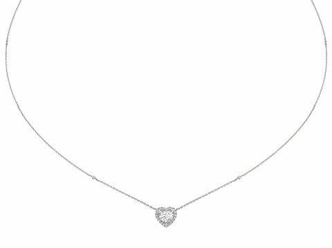 1.28 ct Heart Shaped Diamond Necklace Pendant