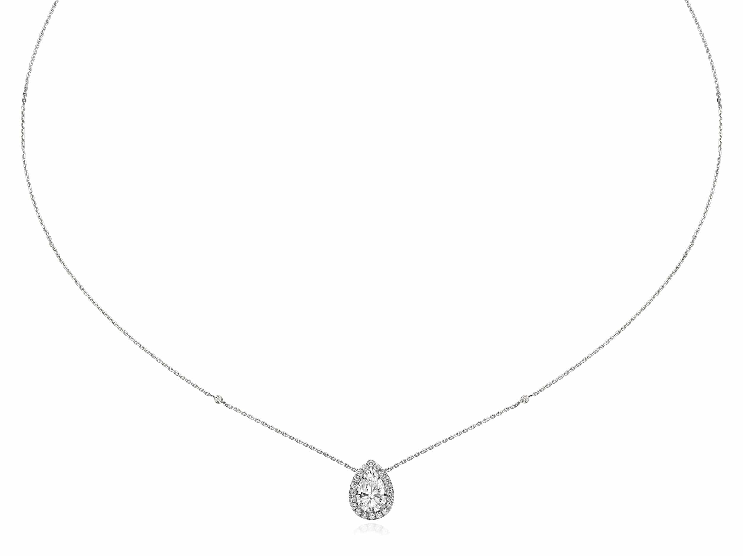 1.20 ct Pear Shaped Diamond Necklace Pendant