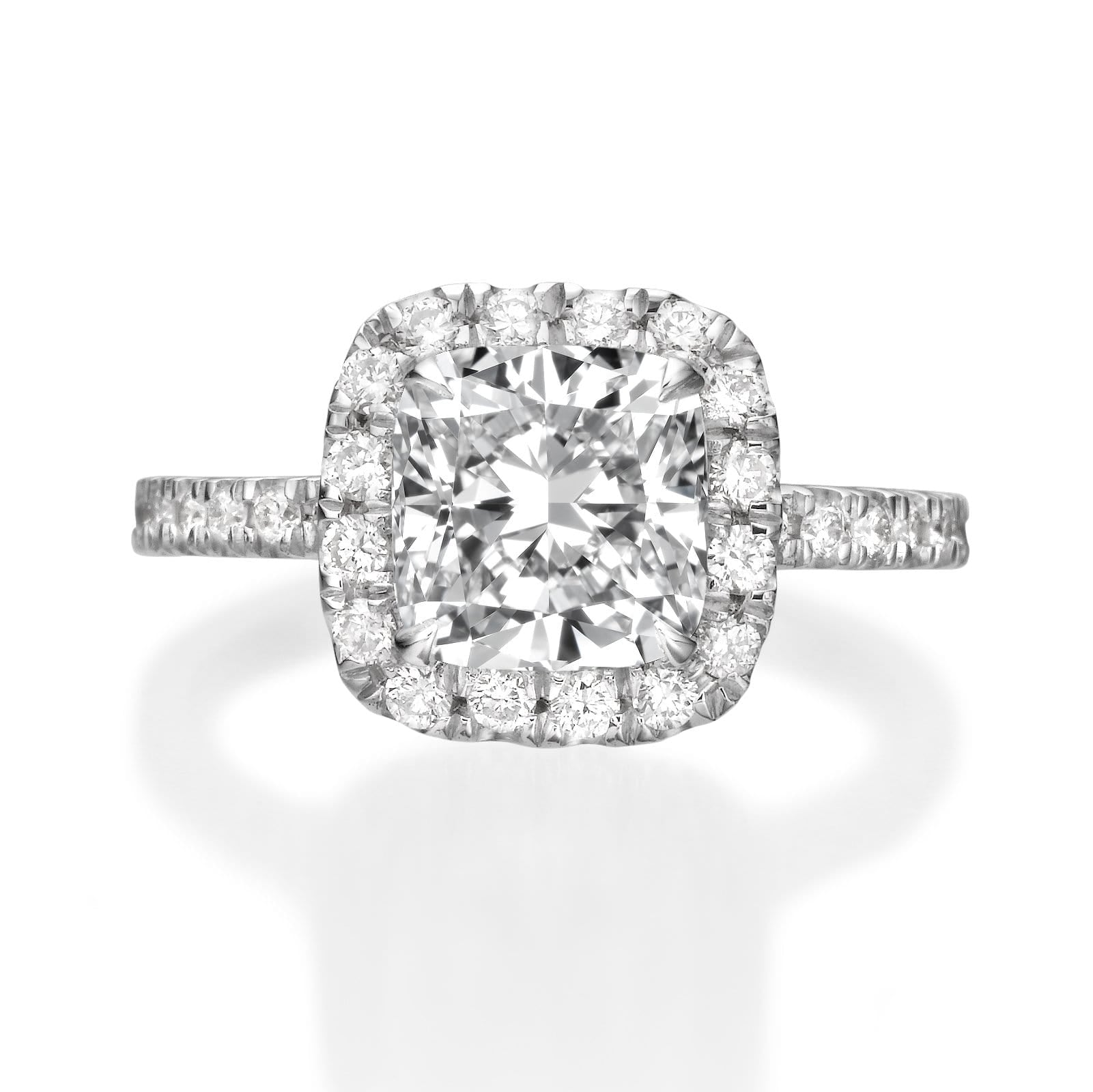 2.76 ct Cushion Cut Diamond Engagement Ring