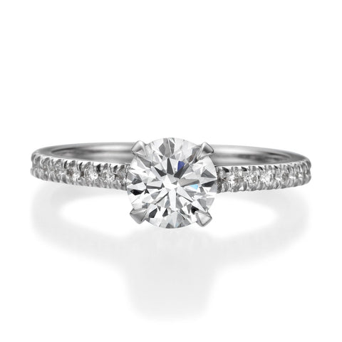 1.51 ct Round Brilliant Cut Diamond Engagement Ring