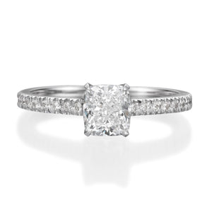 1.51 ct Cushion Cut Diamond Engagement Ring