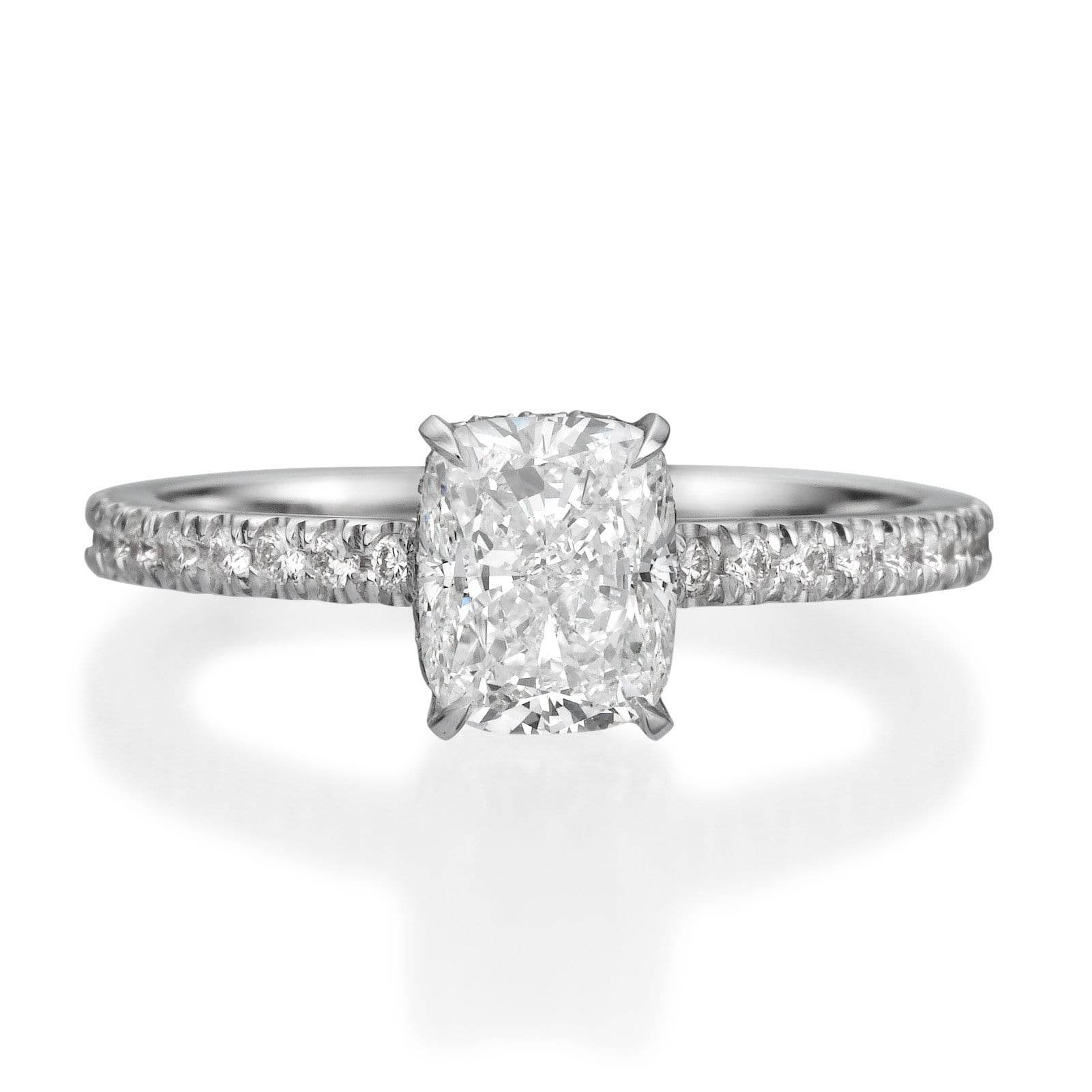 2.15 ct Cushion Cut Diamond Engagement Ring