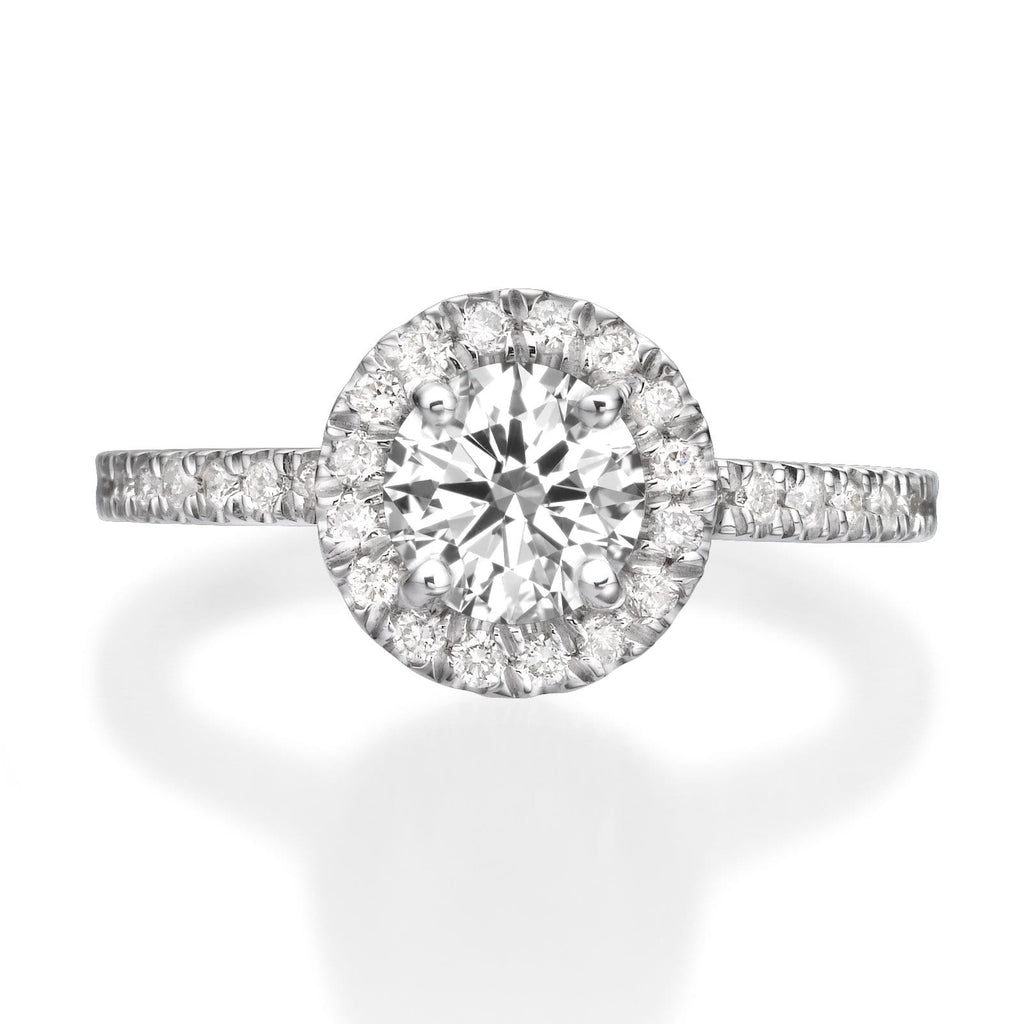 1.56 ct Round Cut Diamond Engagement Ring
