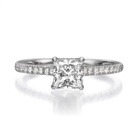 1.50 ct Princess Cut Diamond Engagement Ring