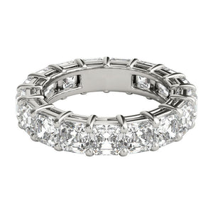 4 ct Asscher Cut Diamond Eternity Band in Platinum