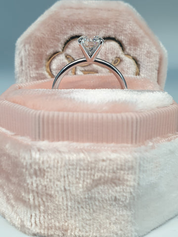 1 Carat Round Brilliant Cut Diamond Engagement Ring